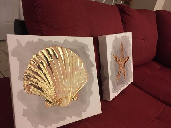 Seashell wall art (canvas)