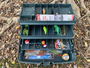 Fishing Tackle Box/ Lures/ Bass/ Trout/ Trolling/ Rod/ Reel/ Fishing Pole for Sale in Fresno, CA