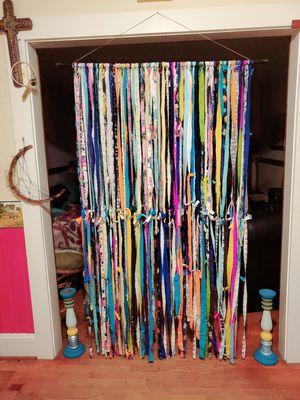 Gypsy rag tie curtains for Sale in Pamplin, VA