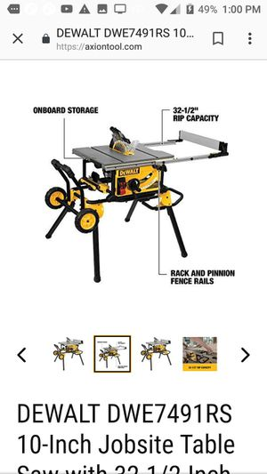 """10"""" jobsite table saw with rolling stand for Sale in West Valley City, UT"""