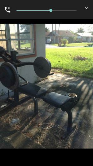 Bench set with one set of weight 120 for Sale in Kissimmee, FL
