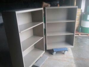 (2) 3 shelves metal book cases for Sale in Nottingham, MD