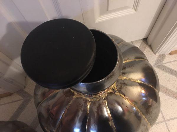 Decorative metal jugs