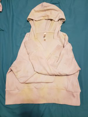 White, Pink, and yellow splotched crop top hoodie for Sale in Allen, TX