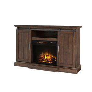 56 inch sliding barn door fireplace tv stand for Sale in Columbus, OH