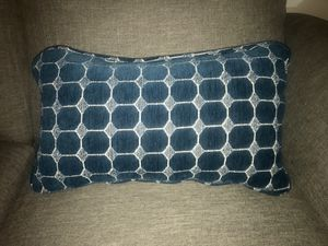 Decorative blue throw pillow for Sale in Pittsburgh, PA