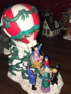 Lightup band painted porcelain hot air balloon ride statue for Sale in Culloden, WV