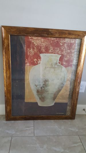 Large framed pottery picture for Sale in Phoenix, AZ