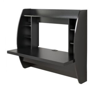 Fully Assembled Wall-mounted Black Office Desk for Sale in Los Angeles, CA