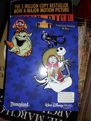 nightmare before christmas pin and lanyard for Sale in Davenport, FL