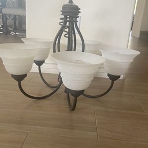 Beautiful 5 Bulb Chandelier! Pick Up Today! for Sale in Corona, CA