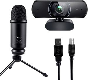 1080P Webcam and USB Microphone Live Streaming Kit, Recording for PC Desktop and Laptop for Sale in Spring Valley, NY