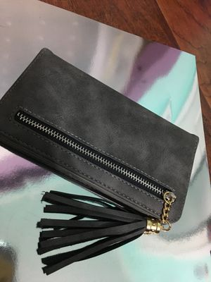 iPhone 6/6s/7/8 gray wallet case with fringe decor for Sale in Wingo, KY