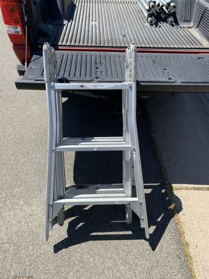 Folding 12 foot ladder steel 65 you pick up for Sale in Lincoln, CA