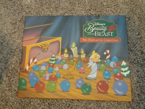 "Disney BEAUTY AND THE BEAST Enchanted Christmas Commemorative Lithograph 11""x14"" for Sale in Sammamish, WA"