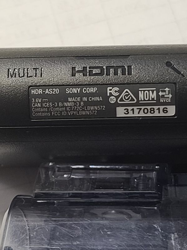 SONY STEADYSHOT CAM HDR-AS20