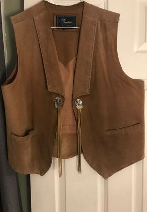 Suede leather vest motorcycle for Sale in Aurora, IL