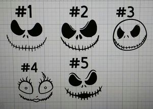 Nightmare before Christmas Ornament DECALS(set of 6 $10) for Sale in Henderson, NV
