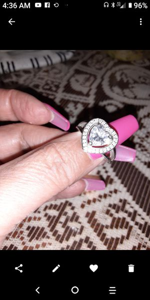 Sterling silver heart ring size 7 for Sale in Fullerton, CA