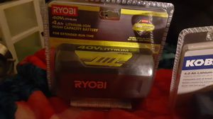 Ryobi 40v lithium ion 4ah battery for Sale in Phoenix, AZ