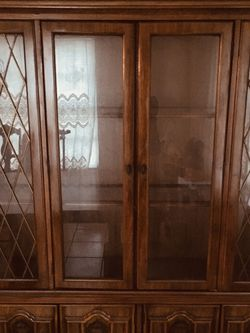 China Cabinet- Beautiful Brown Antique China Cabinet for Sale in Tampa,  FL