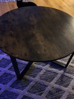 Round Coffee Table, Industrial Style for Sale in Portland,  OR