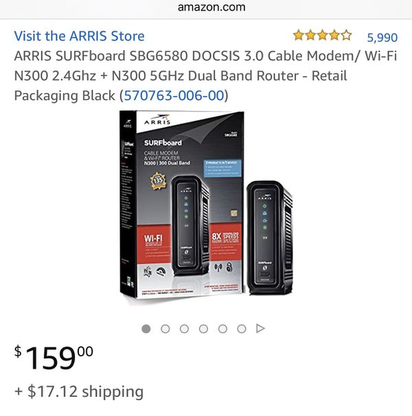 Arris Modem and Router combo