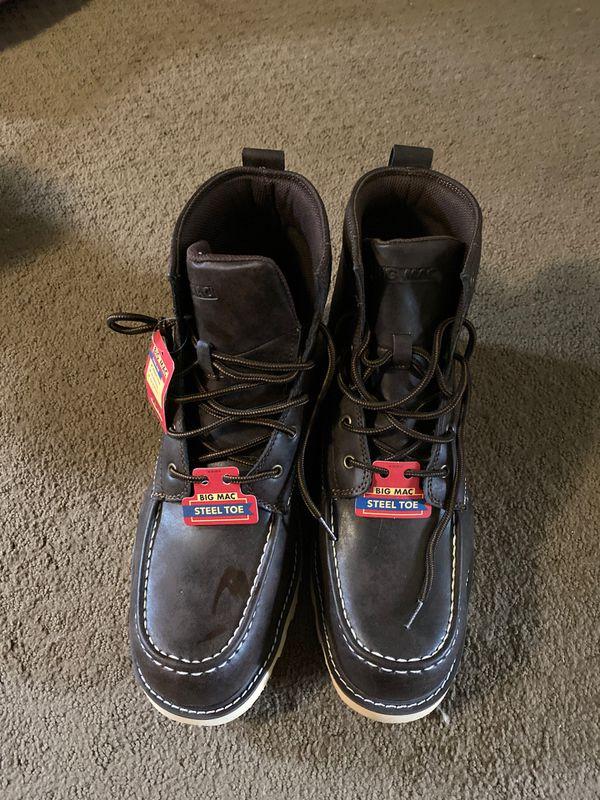 Big Mac steel toe shoes