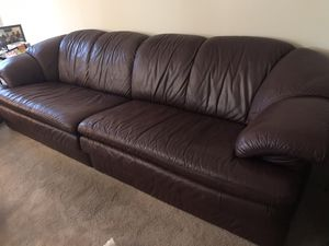 Italian leather couch for Sale in North Reading, MA