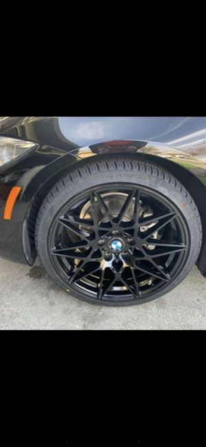 "Bmw 19"" new m style rims tires set for Sale in Hayward, CA"