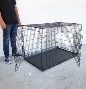 """(NEW) $65 Folding 48"""" Dog Cage 2-Door Pet Crate Kennel w/ Tray 48""""x29""""x32"""" for Sale in Pico Rivera, CA"""