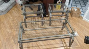 Glass coffee table and end tables for Sale in Brumley, MO