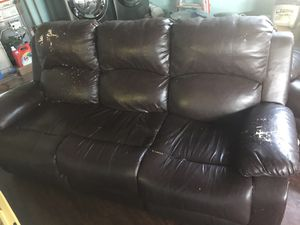 Free used recliner brown color for Sale in San Jose, CA