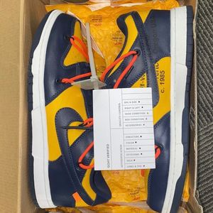 Nike Dunk Low Off-White University Gold Midnight Navy for Sale in Austell, GA