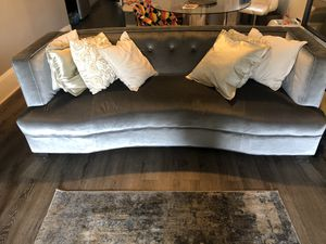 Long couch and extended love seat (light grey) for Sale in Philadelphia, PA