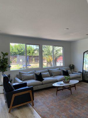 West Elm Sofa Grey Velvet for Sale in Menifee, CA