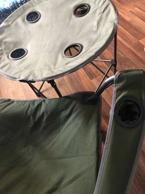 Uline Camping chair and table combo for Sale in Nicholasville, KY