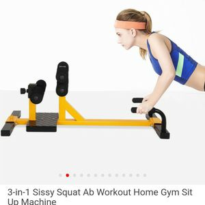 Costway 3-in-1 Sissy Squat AB Workout Home Gym Sit-up Machine for Sale in Porterville, CA