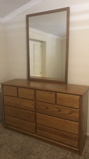 Oak Dresser, Mirror and Nightstands for Sale in Garden Grove, CA