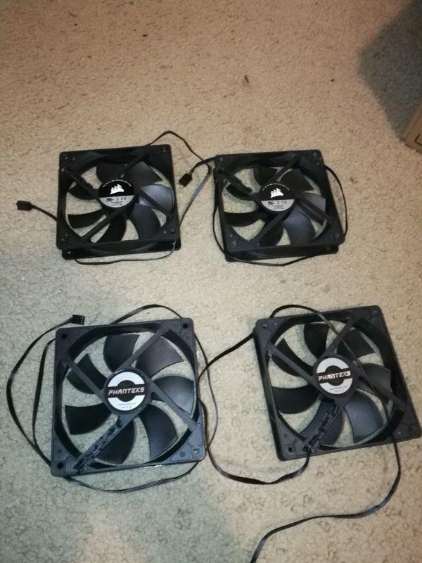 4 120mm pc case fans