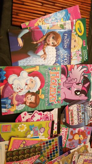 Pending pickup...Activity books, color books, and lots of stickers for Sale in San Antonio, TX