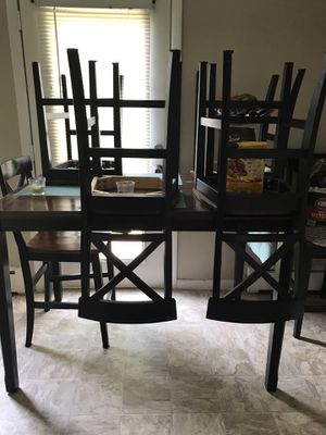 Wooden table set for Sale in Bloomfield, CT