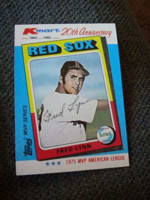 topps fred lynn baseball card red sox mlb for Sale in York, PA
