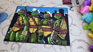 Nickelodeon Teenage Mutant Ninja Turtles Decorative Rug kids Floor Mat. Size 3.3 x 4.5 inches. 100% Nylon Pile.Originally costs for $40. Asking $20 for Sale in Dublin, OH