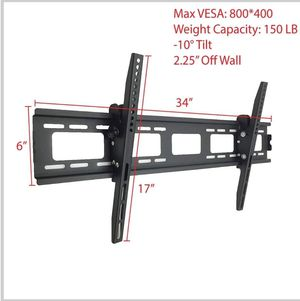 New TV Tilt Wall Mount for all TVs 40-85inches. / Soporte de pared para TV para todos los televisores de 40-85 pulgadas. for Sale in Fontana, CA