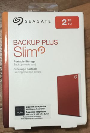 Seagate Backup Plus Slim 2TB Sealed-ReD for Sale in Katy, TX