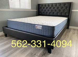 💥Brand New Expresso Queen Button Tufted Beded with Orthopedic Supreme Mattress included 💥 for Sale in Modesto, CA