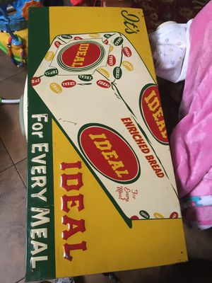 Rare ideal vintage metal bread sign for Sale in Angleton, TX