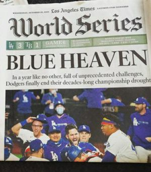 LA Times '20 Dodgers World Series Edition Newspaper for Sale in Whittier, CA