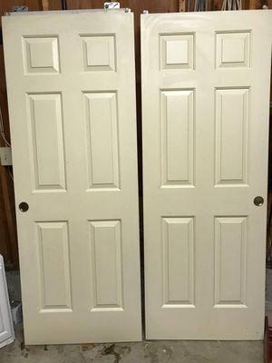 Pair of wood closet doors for Sale in Mill Creek, WA
